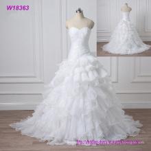 2017 vestido de boda de las correas dulces de la vendimia del bordado del cordón que rebordea