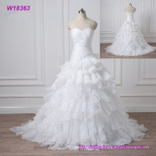 2017 Lace Embroidered Beading Vintage Sweet Straps Wedding Dress