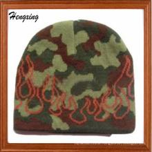 Camo Beanie Knitted Brocade Cap