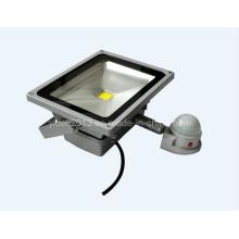 IP65 imperméable à l'eau à l'extérieur 50W PIR Motion Sensor LED Flood Light