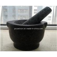 Granit Mörser und Pestles Größe 15X10cm