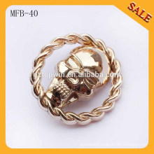 MFB40 fashion skull buttons for jeans,alloy skull shank button,skull alloy buttons