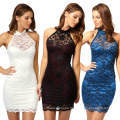 Summer Sweet Casual Style Dresses Halter Sleevess Design Women Party Dress