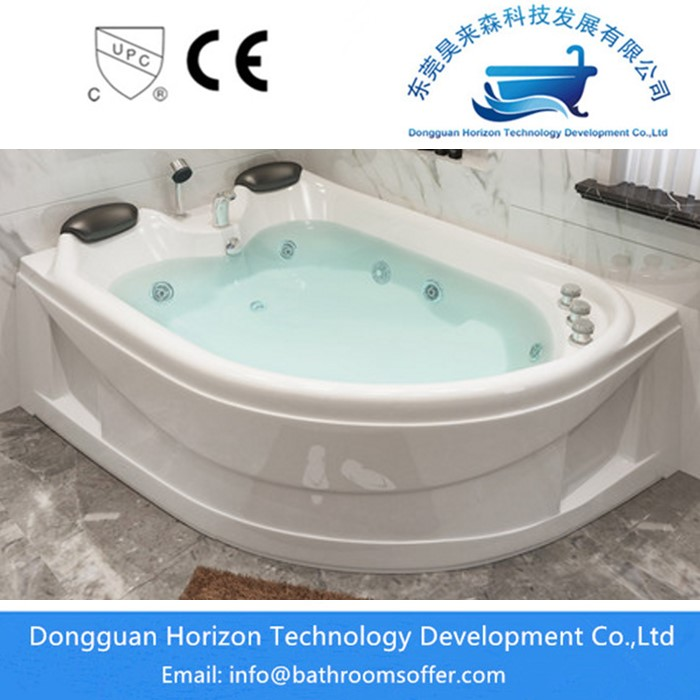 Acrylic square corner soaking bathtubs