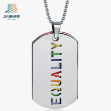 Free Design Stainless Steel Deboss Color Dog Tag for Wholesale