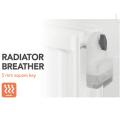 Clé de purge de radiateur avec réservoir d'eau