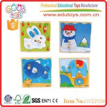 Los mejores productos de venta al por mayor del OEM juegan los mini juguetes de encargo del rompecabezas de madera en China