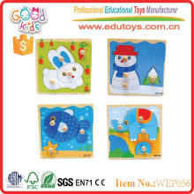 OEM top selling products kids custom wooden mini puzzle toys in China
