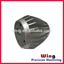 customized die casting light housing accessories with sand blasting