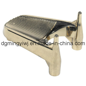 Zinc Alloy Die Casting Pats for Pedestal (ZC9001) with Silver Surface Made in Dongguan