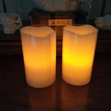 Velas baratas do diodo emissor de luz do temporizador da noite do fogo