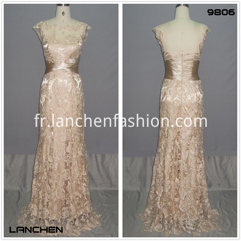 Cap Prom Sleeve Lace