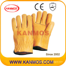 Pig Grain Leather Industrial Safety Driver Work Gloves (22204)