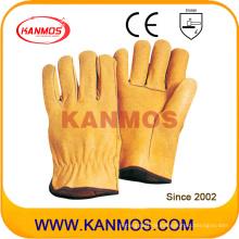Pig Grain Leder Industriesicherheit Fahrer Handschuhe (22204)