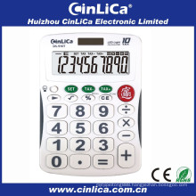 10 digit solar calculator with LED lighted display