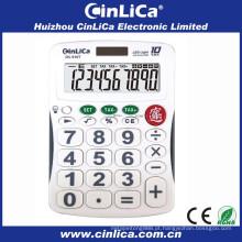 Calculadora solar de 10 dígitos com display iluminado por LED