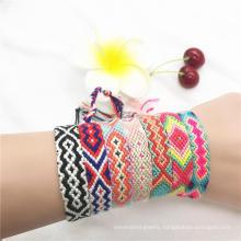 Boho Jewelry Fabric Handmade Bohemian Women Woven Friendship Vintage Style Bracelets