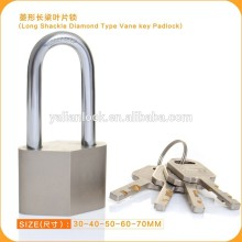 Arc Type Nickel Plated Long Shackle Disc Cylinder Padlock