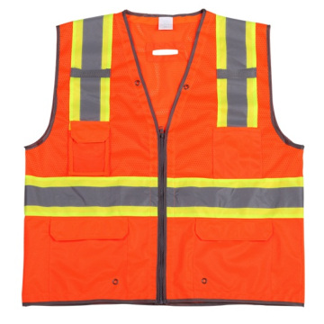 High Visibility Reflective Safety Vest with Warning Band (DFV1087)