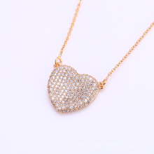 41863 hot sale indian gold plated necklace fashion 18k copper alloy white zircon stone jewelry necklace
