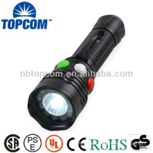 Magnetic super bright red green signal flashlight with clip