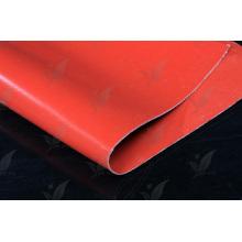 Красная ткань с покрытием из силикона с двойной стекловолоконной тканью