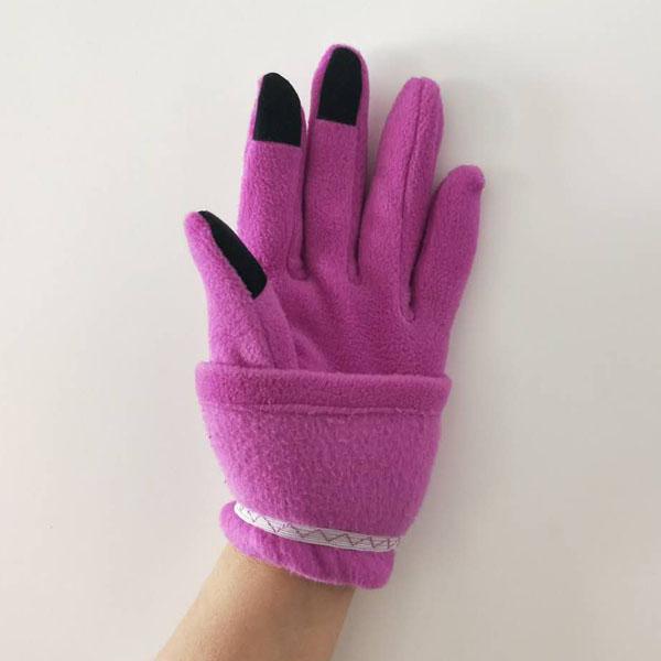 Touch Screen Fleece Gloves For Ladies Elastic