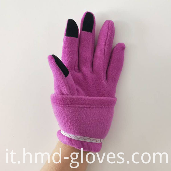 Touch Screen Fleece Gloves For Ladies Elastic