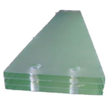 Preço de escadas triplex de vidro laminado temperado para escadas