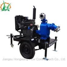 High Efficiency Dewatering Self Priming de aguas residuales Diesel bomba de remolque