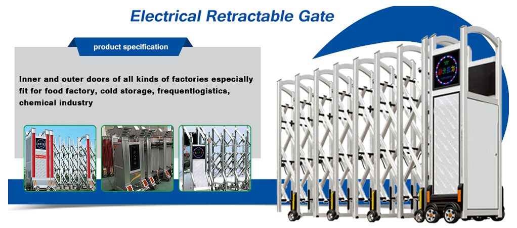 electrical retractable gate