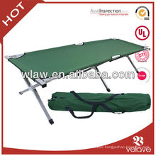 lightweight aluminum folding camping bed