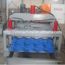 Máquina para fabricar rollos para techos de dos pisos con tejas esmaltadas