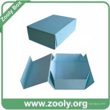 Caja de cartón plegable de papel de colores / Impreso cajas de regalo plegables