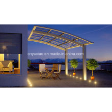 PC Sheet Cover Aluminium Frame Carport for Garden