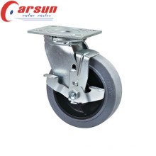 150mm Heavy Duty Swivel Castor with Conductive Wheel (with side brake)