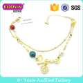 Gold Plating Fashion Charm Bracelet with Pendant