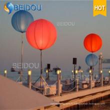Grand ballon LED Éclairage publicitaire Ballon gonflable pour trépied