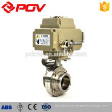 Tipo de regulación eléctrica Sanitary butterfly valve