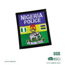 Kundenspezifische Großhandel Nigeria Polizei Stickerei Abzeichen