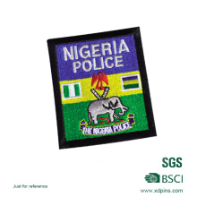 Divisa al por mayor personalizada del bordado de la policía de Nigeria