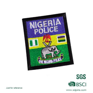 Badge de broderie de police du Nigeria en gros