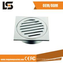 Couvercle de drain carré en acier inoxydable 304 épaissi