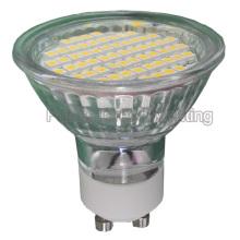 LED de la lámpara GU10 / MR16 / E27 / E14 TUV / CE / RoHS (60SMD 3528 con la cubierta de cristal)