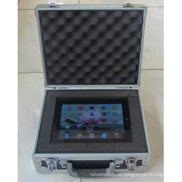 Funda de aluminio iPad para el transporte