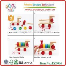 Wooden Shape Block Zug Spielzeug