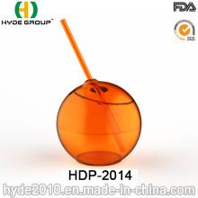 Taza de bola PS de una sola pared de alta calidad con paja (HDP-2014)