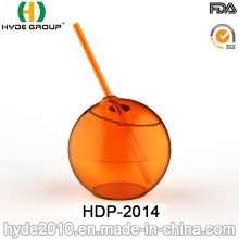High Quality Single Wall PS Ball Cup with Straw (HDP-2014)