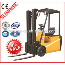 shantui high quality electric ac forklift with cab