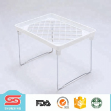 Best seller durable plastic white kitchen folding shelf for storage